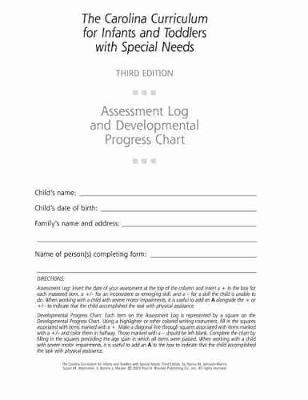 Assessment Log and Developmental Progress Charts for Infants and Toddlers