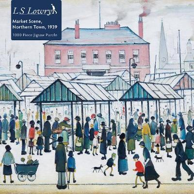 Adult Jigsaw Puzzle L.S. Lowry: Market Scene, Northern Town, 1939
