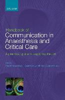 Handbook of Communication in Anaesthesia & Critical Care