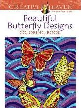 Creative Haven Beautiful Butterfly Designs Coloring Book