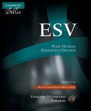 ESV Wide Margin Reference Bible, Black Edge-lined Goatskin Leather, Red Letter Text ES746:XRME