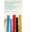 Sources of Effectiveness in Public Speaking; Psychological Principles Practically Used in Developing Ability to Speak